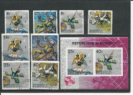 BURUNDI Scott 236-239, C62-C65, C65a Non Perf Yvert 270-273, PA78-PA81, BF24A** (8+bloc) O Et **  Cote 5,00 $ 1968 - Burundi