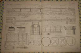 Plan Du Viaduc D'Orival Sur La Seine. Ligne De Serquigny à Rouen. Ouest.1866 - Public Works