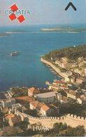 CARTE-MAGNETIQUE-CROATIE-VILLE BORD DE MER-HVAR-TBE - Croatia