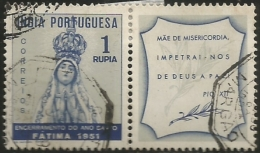 Portuguese India 1951 Holy Year Extension Issue Common Design CD43 Our Lady Of Fatima Canc - Christentum