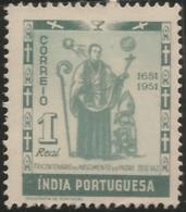 Portuguese India 1951 300th Anniv Of The Birth Of José Vaz A43 Mint No Gum - Christentum