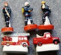 5 Fèves Les Pompiers - Characters