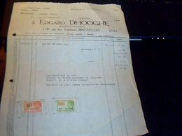 Facture Edgard Dhooghe Maroquinerie A  Bruxelles  Rue  Des Tanneurs Belgique Annee  1931 - Vestiario & Tessile