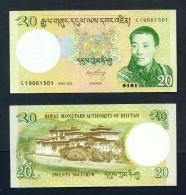 BHUTAN  -  2013  20 Ngultrum  UNC  Banknote - Bhutan