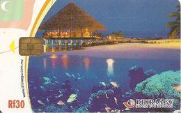 CARTE-PUCE-MALDIVES-DHIRAAGU-CORAL SHALL For TOURIST-TBE - Maldives