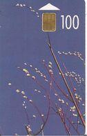 CARTE-PUCE-LITUANIE-100-BRANCHES  En FLEURS-TBE - Lituanie