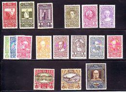 Österreich   AUSTRIA AUTRISCHE 1910  80° Compleanno FRANCESCO GIUSEPPE  17 Valori  MNH** - 1850-1918 Imperium