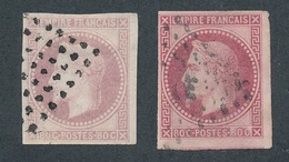 BZ-9: COLONIES GENERALES: Lot Avec N° 10 Obl (2 Teintes) - Napoleon III