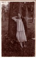 Latvia.Lettland. Beautiful Girl With Very Long Hair.REAL PHOT0-  Eichman Riga ~ 1925 - Photographs