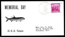 """US Navy, USS""""TARPON"""" (SS-175)Memoriakl Day 1939,Schlechter-Cachet, Look Scan, RARE !! 15.3-28 - Sous-marins"""