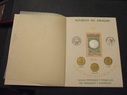 PARAGUAY - LIBRETTO E BF 1965 OLIMPIADI, Colori Cambiati   - NUOVI(++) - Paraguay