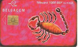 CARTE PUCE-2003 /10 -BELGIQUE-SO3-1000BEF-HOROSCOPE-SCORPION-TBE - Zodiaco