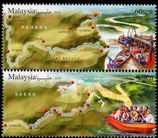 Malaysia - 2018 - Rivers In Malaysia - Mint Stamp Set - Malaysia (1964-...)