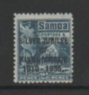 SAMOA    1935    Silver  Jubilee    2 1/2d  Grey  Blue    MH - Samoa