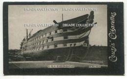 FIGURINA CROMO PUBBLICITA SIGARETTE COUSIS  NAVE H.M.S.MARLBOROUGH CIGARETTES TRASPORTI PHOTO R. ELLIS MALTA ANNO 1900 - Cigarette Cards