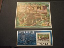 KENYA - 2 BF 1977 REGINA/ALBERO/ELEFANTE   - NUOVI(++) - Kenia (1963-...)