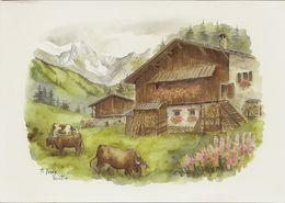CPM Folklore Et Traditions Aquarelle De A Terra Vecchia - Peintures & Tableaux