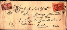 87130) Cuba-let. Aerea-con3c. 100 Anni Primo Francobollo Cubano+5c. Del Servizio Da Habana A Catania 1947 Interessante - Cuba