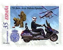Ref. 83015 * MNH * - SPAIN. 1999. 175th ANNIVERSARY OF SPANISH POLICE . 175 ANIVERSARIO DE LA POLICIA ESPA?OLA - Motos