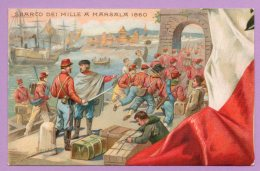 50° Anniversario Della Proclamazione Del Regno D'Italia - Sbarco Dei Mille A Marsala 1860 - Militari