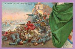 50° Anniversario Della Proclamazione Del Regno D'Italia - La Difesa Del Vascello, Roma 1849 - Militari