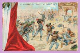 50° Anniversario Della Proclamazione Del Regno D'Italia - La Breccia Di Porta Pia - Roma 1870 - Militaria