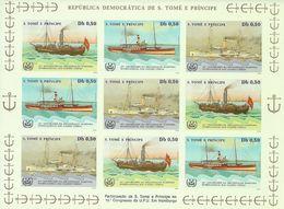 SAO TOME AND PRINCIPE 1984 Ships (imperforated) - Sao Tome Et Principe