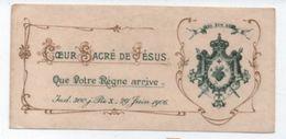Image Religieuse/Coeur Sacré De Jésus/ Indulgences Du Pape Pie X /1905 - 1906                         IMPI11 - Images Religieuses
