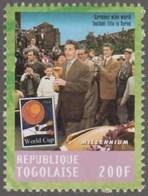 FIFA  World Champion Germany , Players With Trophy Football Soccer, Berne Switzerland MNH Togo - 1954 – Schweiz