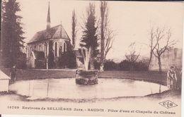CPA - 18789. Env De SELLIERES (Jura) - BAUDIN Pièce D'eau Et Chapelle Du Château - France