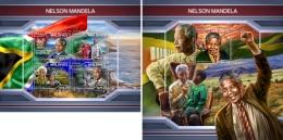 Maldives 2018 Nelson Mandela Nobel Peace Prize Dalai Lama MS+S/S MLD18103 - Famous People