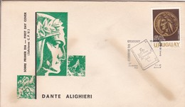 FDC. DANTE ALIGHIERI. URUGUAY.-TBE-BLEUP - Schriftsteller