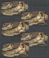 5x S.TOME E PRINCIPE - Art - Painting - Nudes - CTO - Nudes