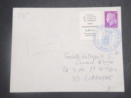 FRANCE - Enveloppe De Libourne Pendant La Grêve En 1968 , Oblitération Et Vignette - L 15021 - Postmark Collection (Covers)