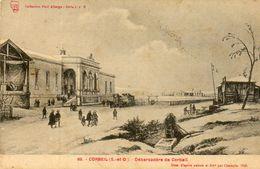 - CORBEIL - Le Débarcadère (lithographie De Champin)  -14051- - Corbeil Essonnes