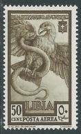 1938 LIBIA POSTA AEREA AUGUSTO 50 CENT MH * - I44-8 - Libya