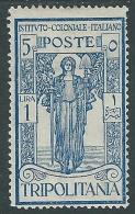 1926 TRIPOLITANIA PRO ISTITUTO COLONIALE 1 LIRA MH * - I46-2 - Tripolitania