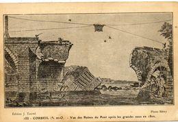 - CORBEIL - Ruines Du Pont Après Les Grandes Eaux De 1802  -14053- - Corbeil Essonnes