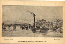 - CORBEIL - Vue Du Pont En 1838  -14054- - Corbeil Essonnes