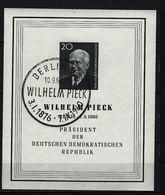 DDR - Block Nr. 16 Tod Präsident Wilhelm Pieck Gestempelt (11) - [6] República Democrática