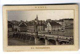 BASEL  DIE RHEINBRUCKE  VERS 1883  PHOTO SUR UN SUPPORT CARTONNE - Photographie