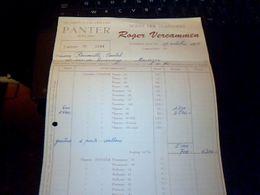Facture  Cigares Et  Cigarillos  Panter  Roger  Vercaminen  A  Knokke-zoute Hollande Annee 1958 - Pays-Bas