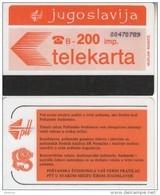 YUGOSLAVIA(Autelca) - Telecom Logo 200 Units(muflon Radece), CN : 8 Digits, Used - Yugoslavia
