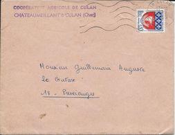 Lettre De La Coopérative Agricole De Chateaumeillant à Culan 1969 - Agriculture