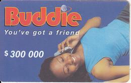 ZIMBABWE - Girl On Phone, Buddie Recharge Card $300000, No Exp.date, Used - Zimbabwe