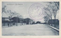 CP. 17 10 17. MARSALA SICILE. MARINE NATIONALE SERVICE A LA MER.  MARSALA VIA STAZIONE  / 2 - Storia Postale