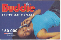 ZIMBABWE - Girl On Phone, Buddie Recharge Card $50000, Exp.date 31/12/04, Used - Zimbabwe