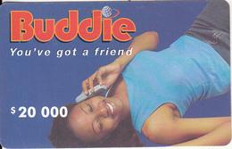 ZIMBABWE - Girl On Phone, Buddie Recharge Card $20000, No Exp.date, Used - Zimbabwe