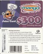 ZIMBABWE - Juice Card, Mango Recharge Card $300, Exp.date 09/01/03, Used - Simbabwe
