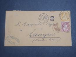 SUISSE - Enveloppe De Basel Pour La France En 1871 , Affranchissement Plaisant - L 15032 - 1862-1881 Helvetia Assise (dentelés)